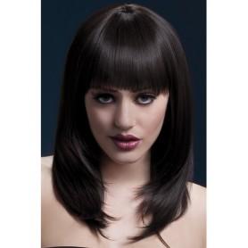 parrucca professionale con frangia realistica per donna sensuale e seducente