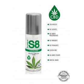 Lubrificante intimo gel vaginale anale cbd mariuana cannabis a base acqua in silicone ibrido S8 100  ml