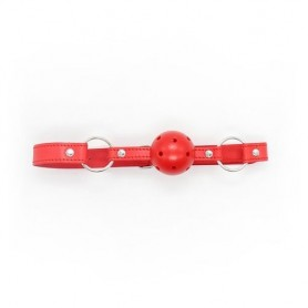 Breathable ball gag rosso traspirante morso red bondage fetish costrittivo