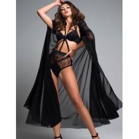 Mantello intimo nero per donna sexy lingerie trasparente copricostume