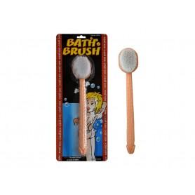 Spazzola da bagno con pene finto gadget divertente scherzo per addio al nubilato