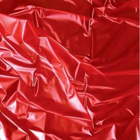 Telo coprimaterasso rosso per massaggi erotici giochi con olio copriletto latex