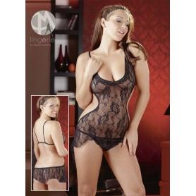 Sexy lace intimo camicietta notte black