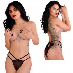 Slip donna a vita alta sexy lingerie intimo nero trasparente mutanda in pizzo