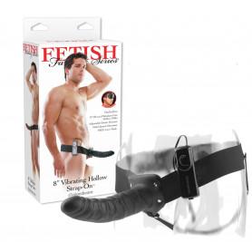 Vibratore realistico strap on Fallo indossabile vibrante vaginale dildo anale