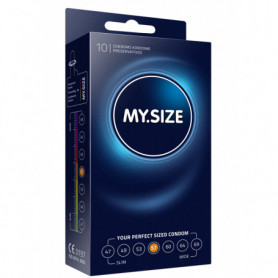 Profilattici 10pcs in lattice MY.SIZE 57mm Condoms per pene uomo preservativi lubrificati