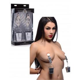 copy of Morsetti pinze per capezzoli seno bondage fetish harness costrittivo in acciaio
