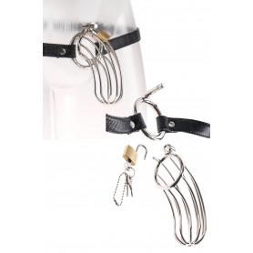 Cintura di castità in acciaio bdsm gabbia per pene sexy costrittivo bondage uomo