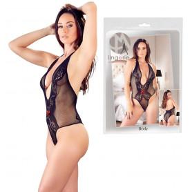 Body scollato sexy donna a rete e pizzo trasparente bodysuit lingerie erotica