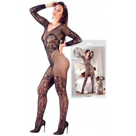 Tutina donna sexy a rete e pizzo bodystocking fishnet intimo aperto catsuit hot