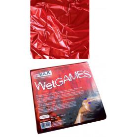 copriletto materasso in latex rosso lenzuolo per massaggi erotici di coppia red