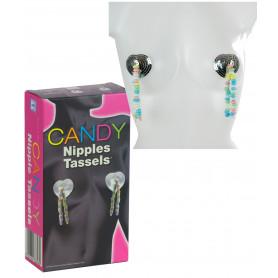 Copricapezzoli caramelle per seno sexy candy nipple tassels per giochi erotici