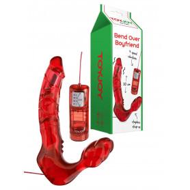 Vibratore indossabile con telecomando fallo vibrante strap on vaginale anale sex