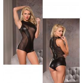 Body intimo donna sexy bodysuit sensuale nero trasparente lingerie erotica hot