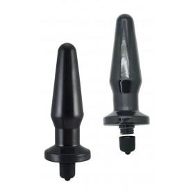 Plug anale fallo vibrante nero dilatatore vibratore piccolo anal butt black sex