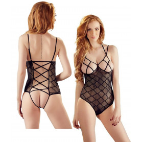 Body intimo donna nero trasparente sexy bodysuit seno perizoma aperto elegante
