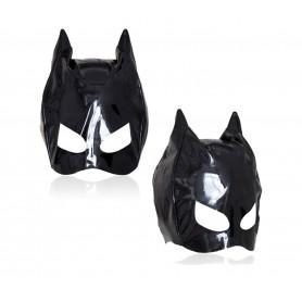 Maschera catwoman fetish nera sexy mascherina occhi bondage mask gatta sadomaso